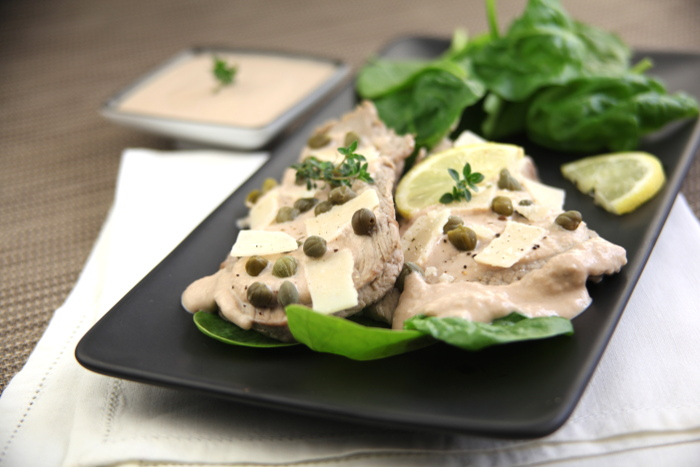 Escalope de veau Vitello tonnato Sauce au Roquefort