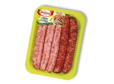 Assortiment saucisses de veau & merguez de veau Tendriade