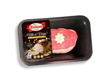 Rôti de veau au beurre truffé